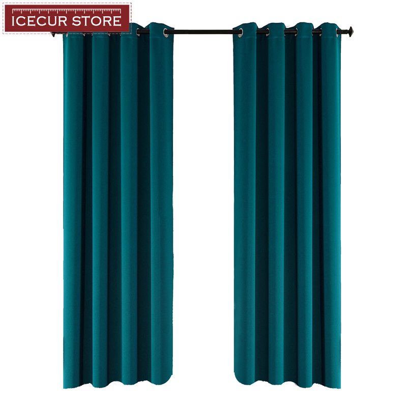 ICECUR Blackout Curtains Drapes Window-Blinds Fabric Bedroom Living-Room Kitchen Thicken