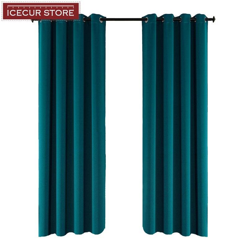 Icecur engrossar tecido cortinas blackout para sala de estar cozinha alta sombreamento cortinas modernas para o quarto janela cortinas