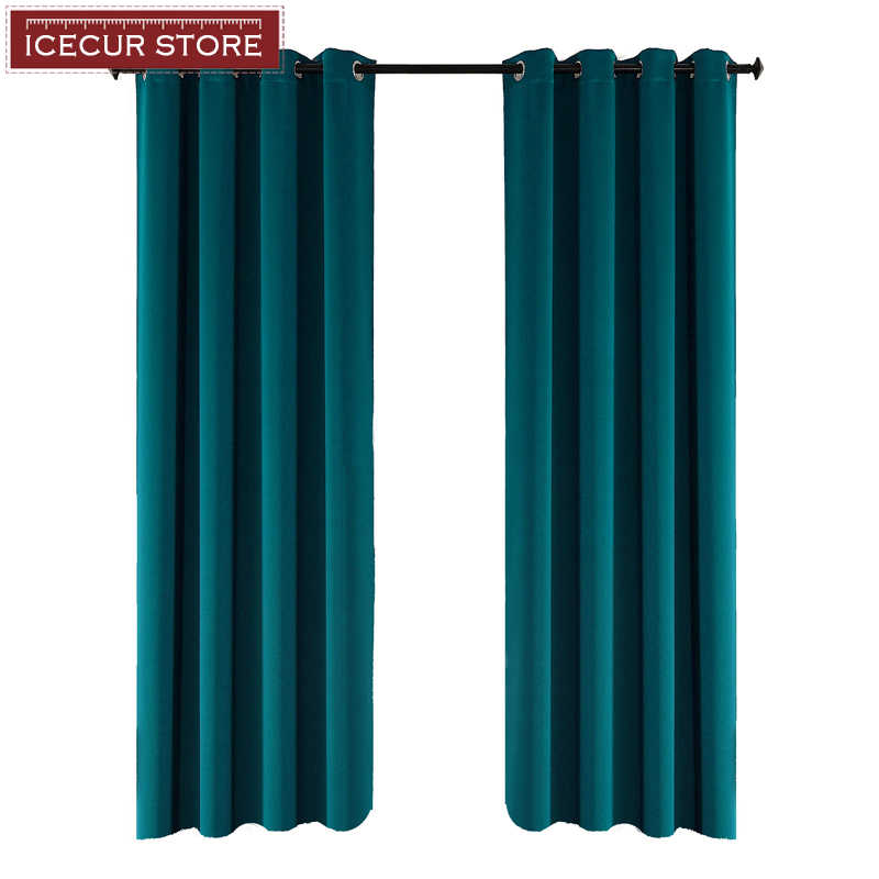 ICECUR Thicken Fabric Blackout Curtains for Living Room Kitchen High Shading Modern Curtains for Bedroom Window Blinds Drapes