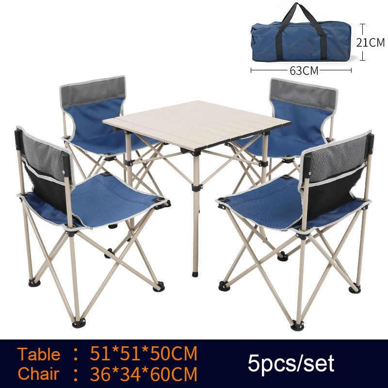 Сад набор мебель 4 стулья 1 стол Al Iron Oxford Быстрая доставка зеленый синий утолщение складной с мешком Кемпинг комплект