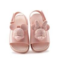 New gái trai Dép dễ thương mùa hè 4 màu Mickey Minnie chúa giày thạch giày dép kẹo mùi chống Thấm chống trượt Zapatos
