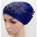 Flor Musulmán Hijab Hijab Islámico Underscarf Caps Sombreros Ninja Interior con Hermosa del Taladro
