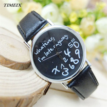 Trend Ladies Leather-based Watch Distinctive No matter I'm Late Anyway Letter Watches Feminine Free Delivery,Dec 27