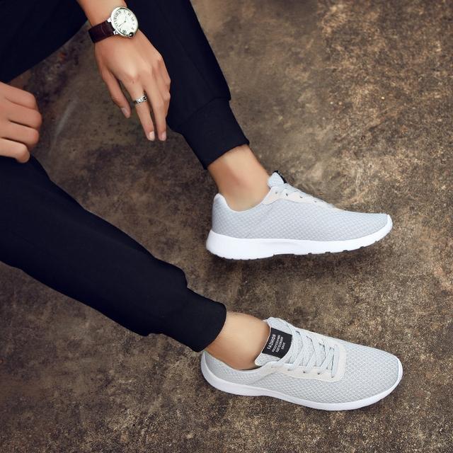 Men Shoes Men Casual Shoes Male Lace Up Sneakers Lightweight Breathable Mesh Walking Shoes Men Zapatillas Hombre Plus Size 39-48