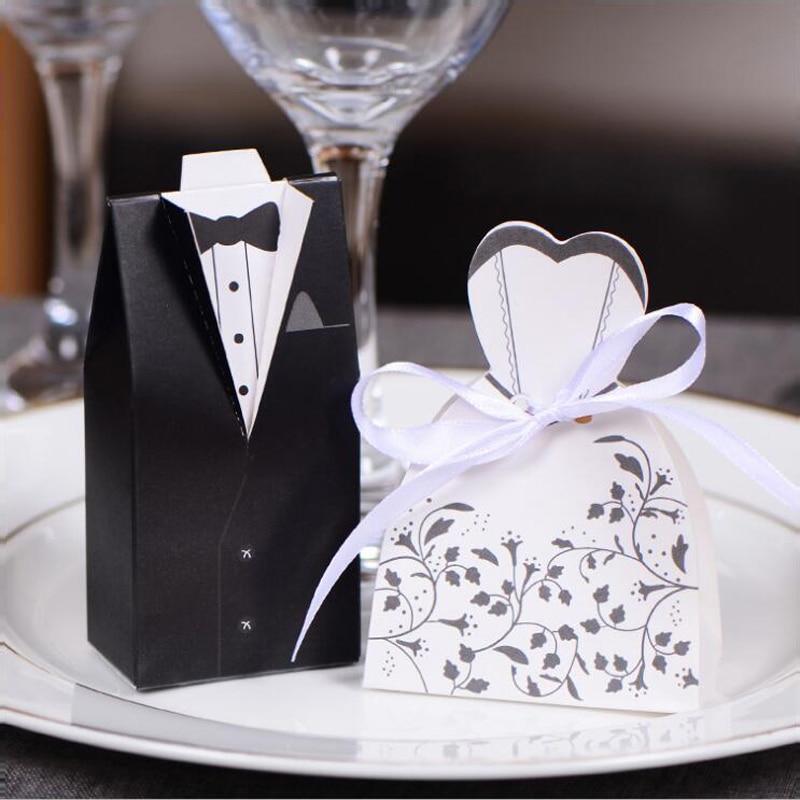 Top 100 Wedding Gifts: Impressive 100pc/lot Wedding Candy Box, Bride Groom Sweet