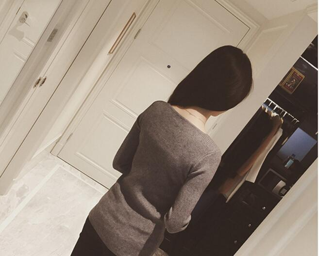 Cashmere Wool Blend Sweater Female V-neck Pullover Sweater Short Design Slim Solid Color Sweater Basic