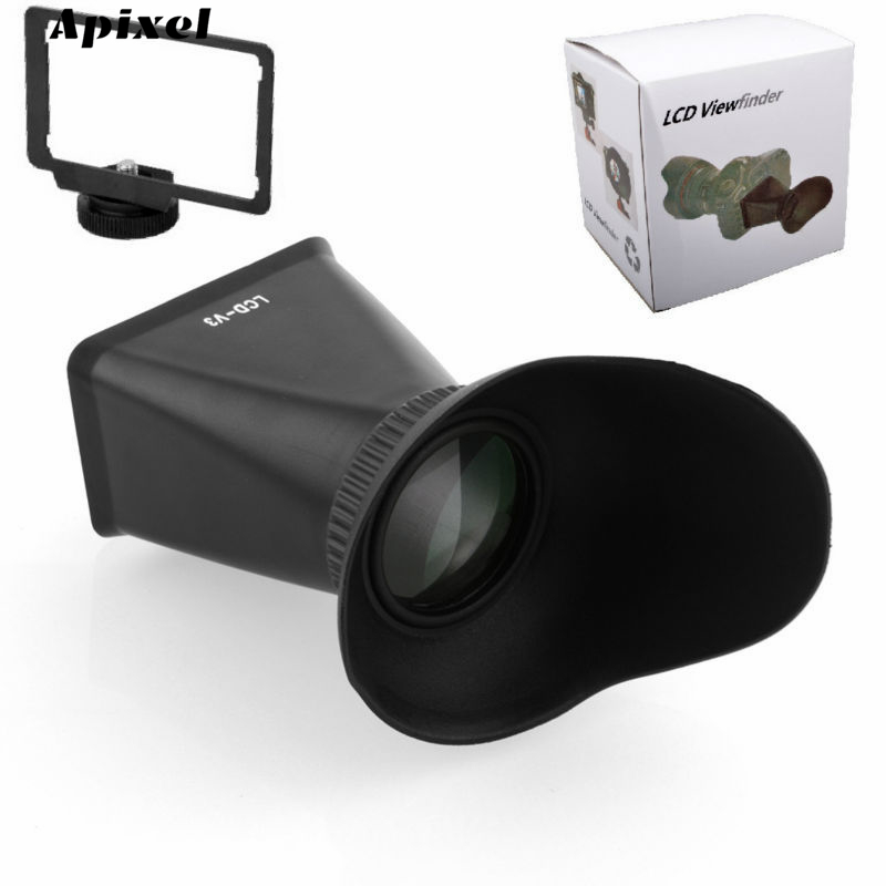 SUPON LCD-V6 2.8X 3 LCD Screen Magnifier Viewfinder View finder Eyecup Hood Extender for Canon EOS M Mirrorless Camera