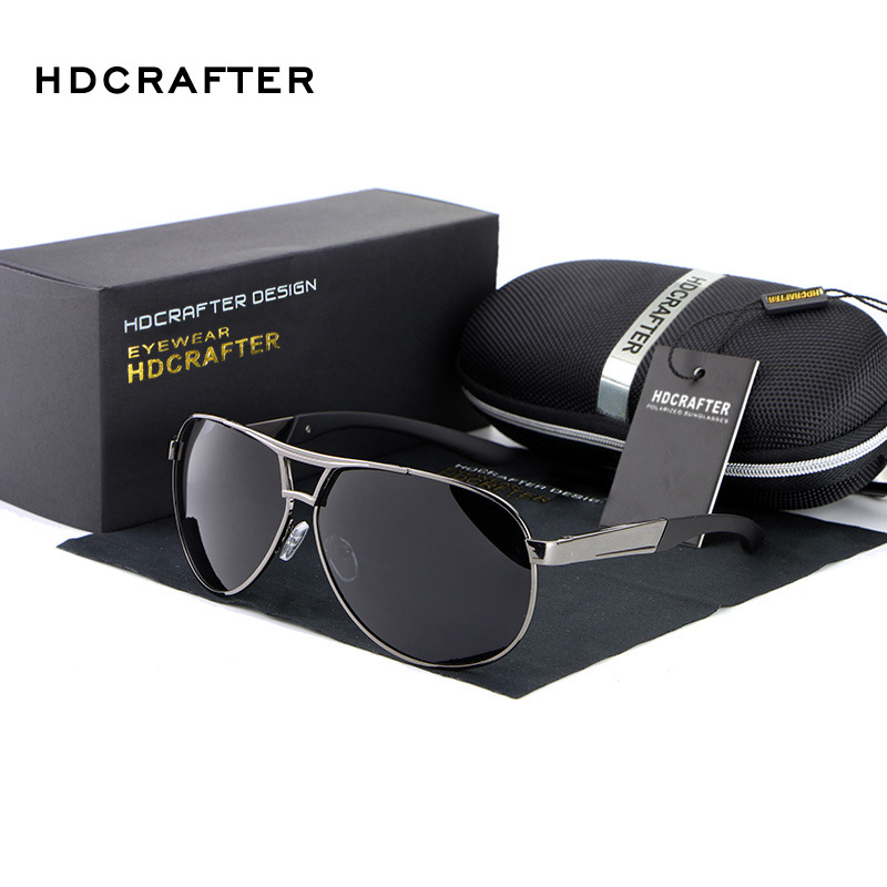 HDCRAFTER Fashion Men s UV400 Sunglasses 2016 New Mirror Eyewear Sun Glasses For Men With Case