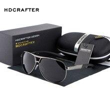 Hdcrafter мода Мужская UV400 солнцезащитные очки 2016 Новинка зеркало очки солнцезащитные очки для мужчин с Коробка Чехол Óculos де золь ABS-3