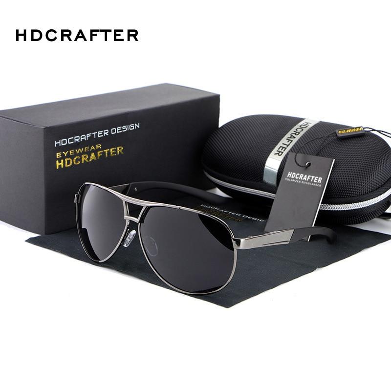 HDCRAFTER Mode Hommes UV400 lunettes de Soleil 2016 Nouveau Miroir Lunettes de Soleil lunettes Pour Hommes Avec la Boîte De Cas oculos de sol feminino ABS-3