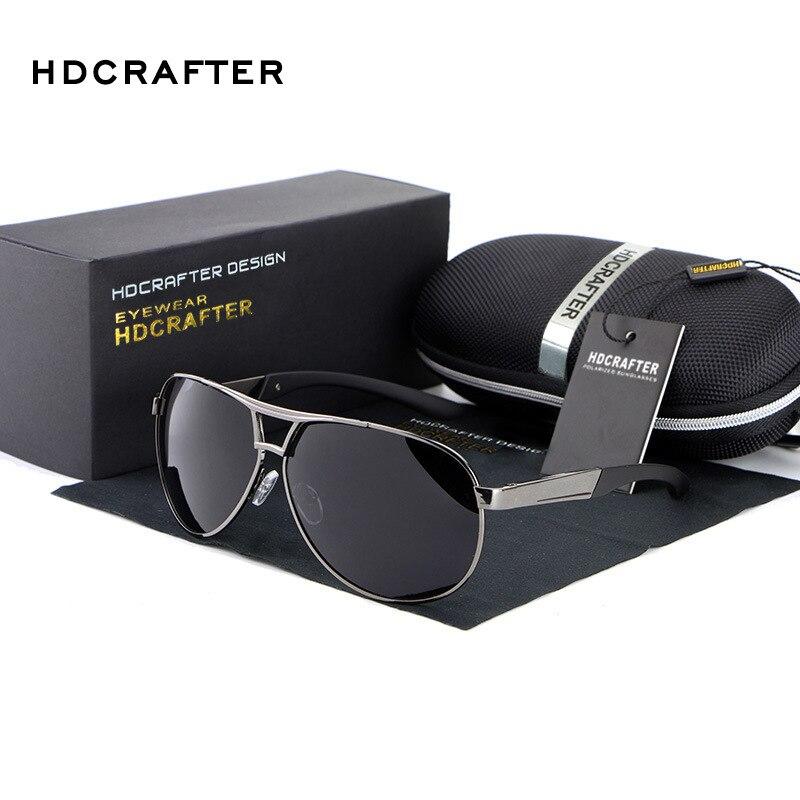HDCRAFTER Mode herren Uv400 2016 Neue Spiegel Brillen Sun gläser Für Männer Mit Fall Box oculos de sol feminino ABS-3