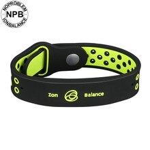 Noproblem антиусталость Мощность фитнес спорт силиконовые ионы баланс Турмалин Германий талисманы браслет браслеты