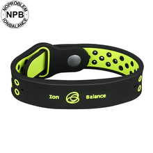 8ec4c598170 Antifadiga power fitness esportes silicone íons Noproblem equilíbrio  germânio turmalina encantos pulseira pulseiras pulseira(Hong