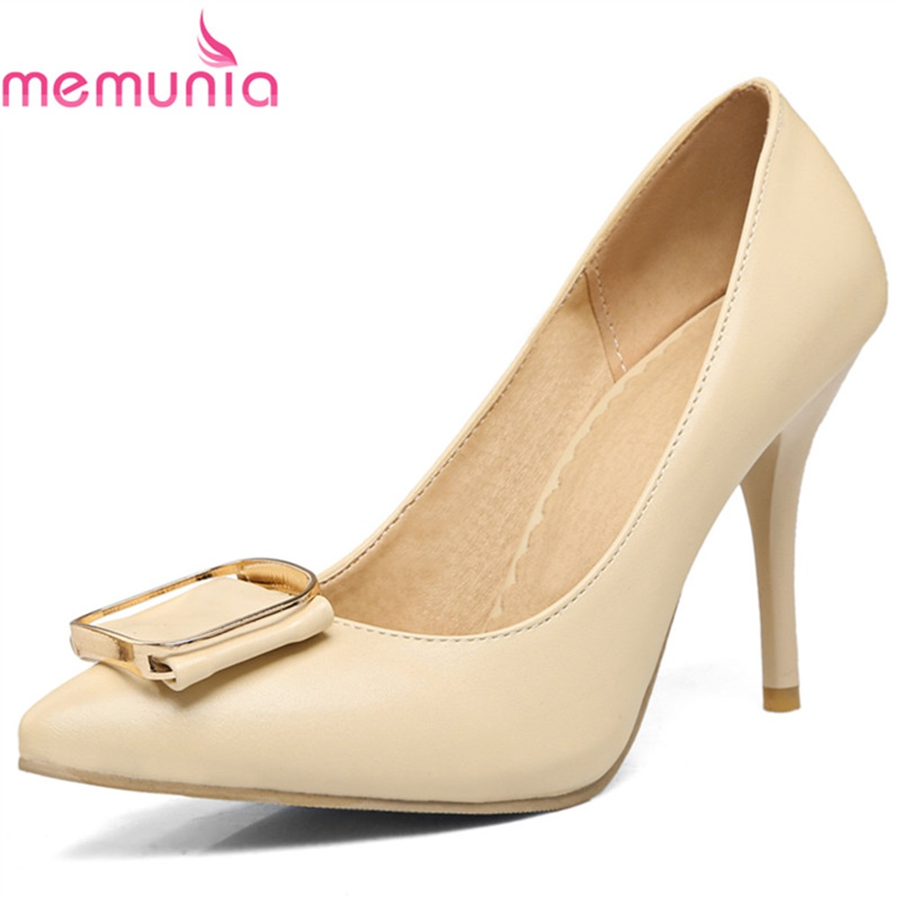 MEMUNIA pumps women shoes high heels spring autumn thin heels pointed toe bowknot top quality sexy bridal wedding shoes siketu 2017 free shipping spring and autumn women shoes sex high heels shoes wedding shoes sweet lovely pumps g126