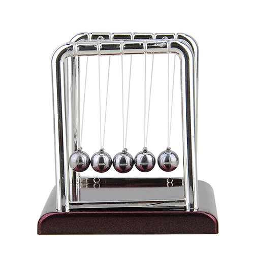 Cradle Steel Balance Ball font b Physics b font Science Pendulum Desk Table Decor Fun Toy