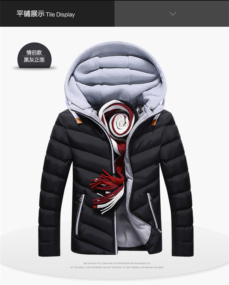 Winter Jacket Parkas Men Jackets 2019 Casual Hooded Coats Men Outerwear Thick Cotton Quilted Jacket Male Brand Clothing