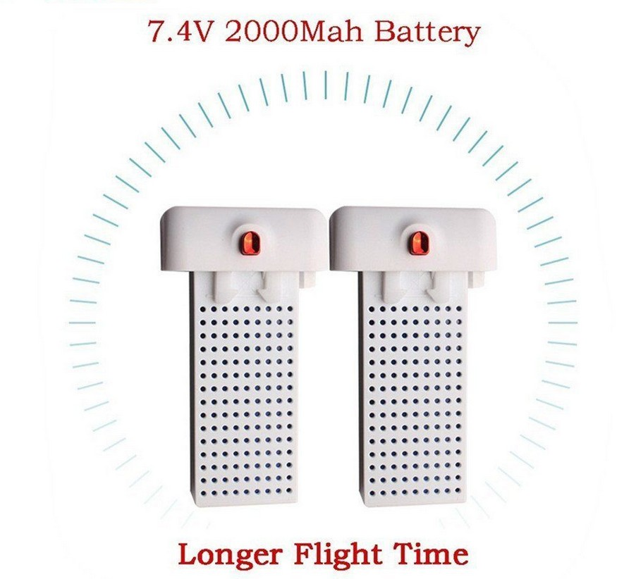 2PCS 7.4V 2000mAh lipo battery for syma X8SW X8SC RC Quadcopter drone Lithium Battery Quadcopter Drone 3pcs battery and charger with 1 care 3 conversion cable for syma x8sw x8sc rc quadcopter accessories battery