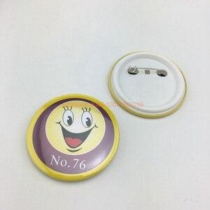 Image 4 - Badge à boutons personnalisé, 44x44mm, avec votre design, badge rond en fer blanc avec épingle, 20 pièces/lot