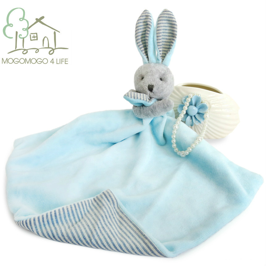 Luxury Powder Blue Rabbit Comforter,100% Hand-made High Quality,100% Linen Plush Baby Toys