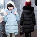 Moda inverno Crianças jaquetas Outerwears para-30 graus Para Baixo da Menina jaquetas/casacos de bebê Da Menina Casacos de inverno de espessura jaqueta de pato Quente