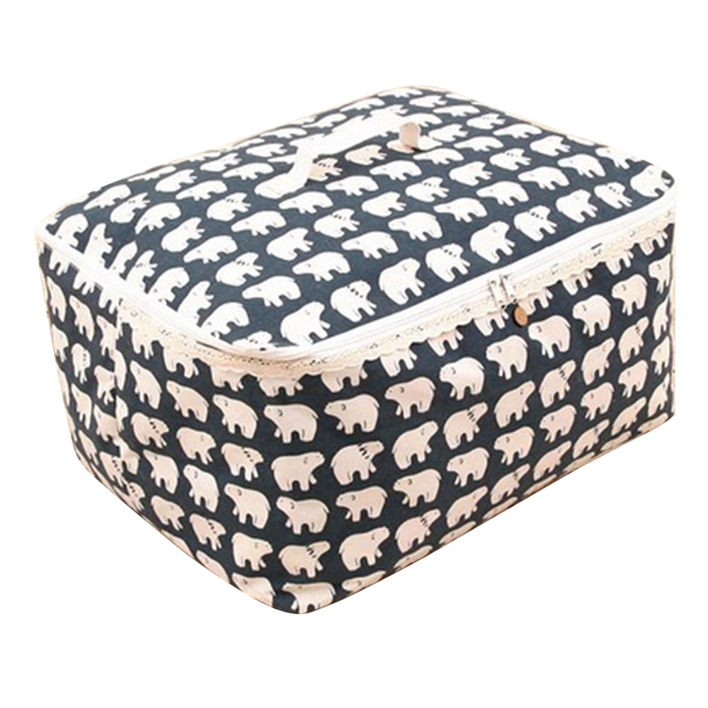 Disney Collapsible Storage Trunk Toy Box Organizer Chest: Large Quilt Foldable Waterproof Linen Folding Organizer