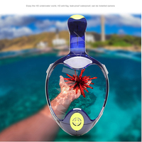 Newest 2018 Full Face Diving Mask Snorkeling Big View Underwater Swimming Train Scuba Mergulho Snorkeling Mask For Gopro Camera
