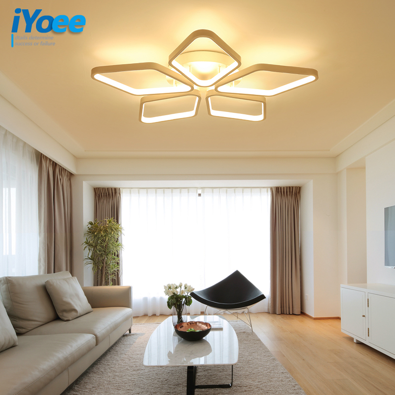 Pentagram Acrylic Aluminum Modern Led ceiling lights for living room bedroom AC85-265V White Ceiling Lamp Fixtures luminaria butterfly acrylic white led ceiling lights for living room bedroom modern ultra thin simplicity ceiling lamp light fixtures
