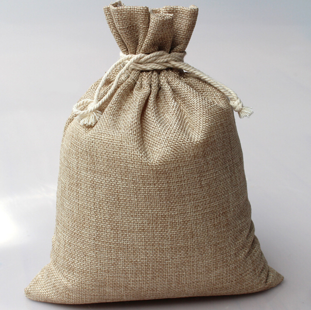10 14cm 1000pcs vintage style handmade jute sacks drawstring gift bags for jewelry wedding