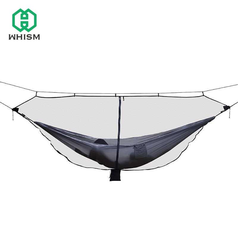 WHISM Nylon Hammock Bug Net Hanging Bed Net Garden Swing Hammock Netting Camping Mosquitera Mesh Portable Hammock Mosquito Net