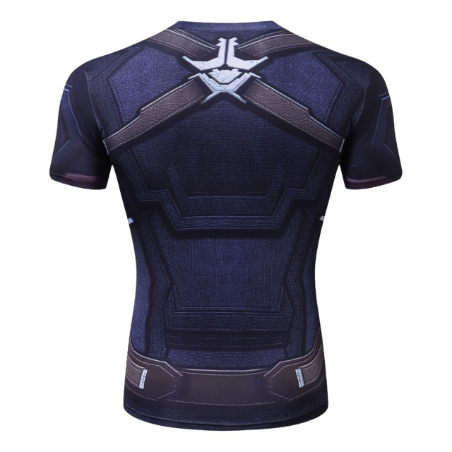 2018 Infinity War Compression Shirt Avengers Captain America 3D Printed T shirts Men Cosplay Costume Short Sleeve Tops For Male 2