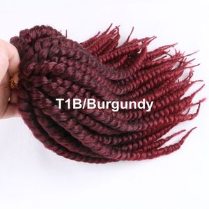 """Image 5 - Luxury For Braiding 12"""" 12strands/pack 4packs/lot  Ombre Brown Crochet Braids Mambo Twist Synthetic Hair Extensions"""