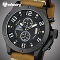 Aviadora Hombres Cuarzo relojes 100 M Impermeable Militar Del Ejército Relojes de pulsera de Cuero Genuino Deportes Luminosos Relojes Relogio masculino