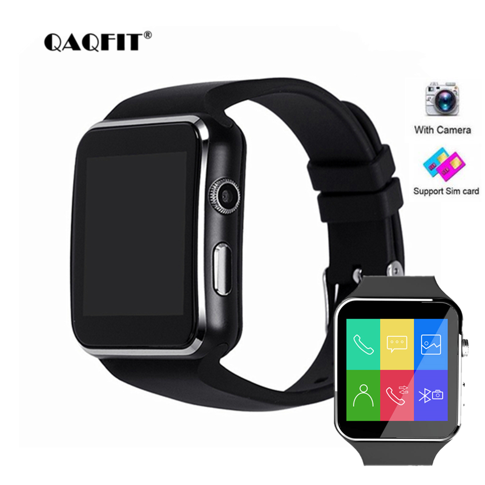 QAQFIT X6 Smart Watch with Camera Touch Screen Support SIM TF Card Bluetooth Smartwatch for iPhone Xiaomi Android Phone стоимость