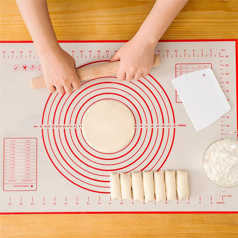 Kitchen accessories 1pc non-stick silicone baking mat vegetable cutter kneading dough pad kitchen cooking tools kitchen gadget