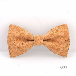 RBOCOTT Cork Wood Bow Tie Wooden Bow Ties Men's Novelty Handmade Solid Bowtie For Men Wedding Party Accessories Neckwear 4
