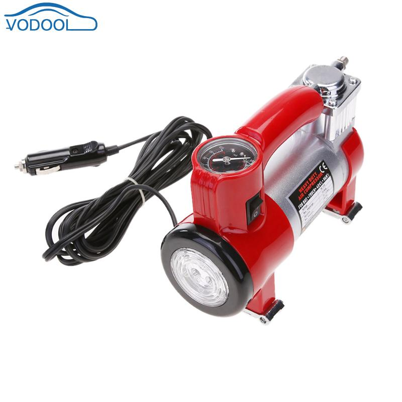 Metal Portable Auto Vehicle Tire Inflator Pump DC 12V 100PSI Air Compressor Automobile Air Inflator Car Tool Car Accessaries 2 in 1 multifunction tire inflator air compressor w vacuum cleaner yellow dc 12v