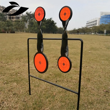 Tactical Skill/Outdoor Sport Airgun 4-Plate Spinner Target/Also For Paintball Shooting/Improving Hunting Shooting