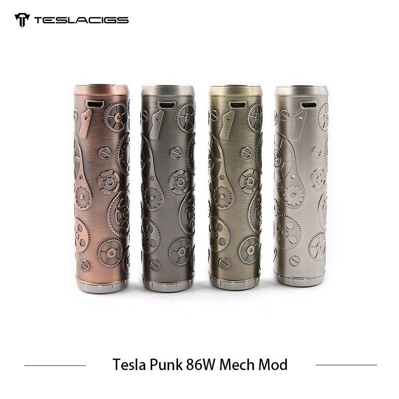 E Cigarette Tesla Punk 86 w Mech Mod Teslacigs Max 86 w Mécanique Mod Unique 18650 Vaporisateur Cigarette Électronique Mod VS Vgod Mech Mod - 3
