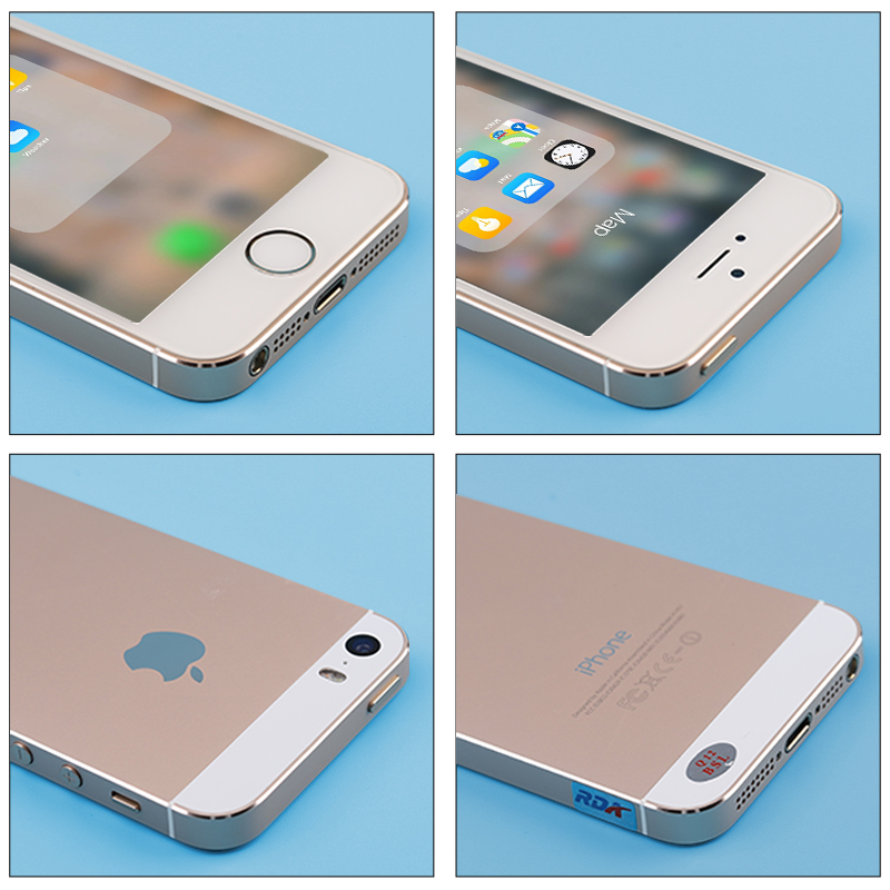 Unlocked APPLE Iphone 5s Smartphone 16GB/32GB/64GB ROM 4.0 Inch Touchscreen 8MP Dual Camera Wifi Bluetooth Fingerprint LTE Phone