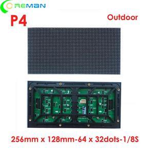 Aliexpress spanish lowest price p4 32x64 led matrix outdoor rgb led module hub75 smd1921 led panel module 256x128mm(China)