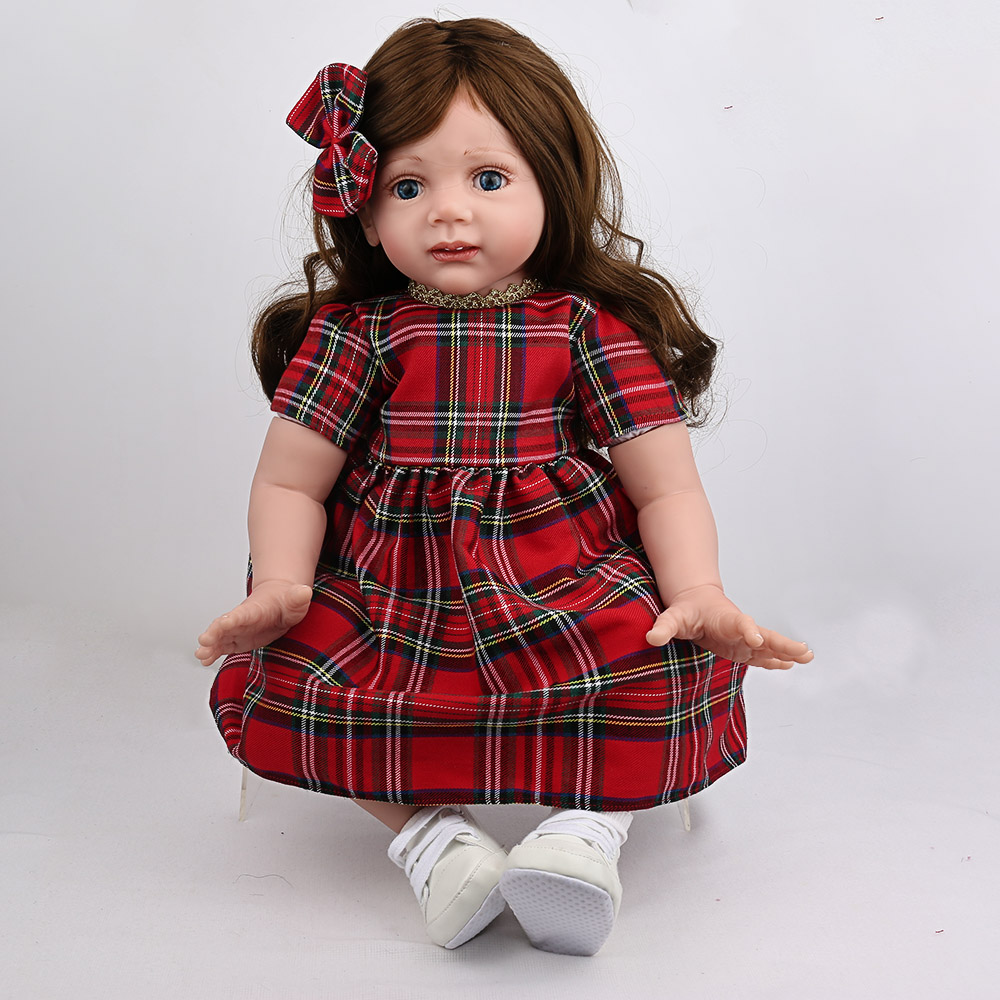 24inch silicone princess toddler doll big size Reborn baby doll lol Toys adorable  lifelike girls collectible doll play house24inch silicone princess toddler doll big size Reborn baby doll lol Toys adorable  lifelike girls collectible doll play house