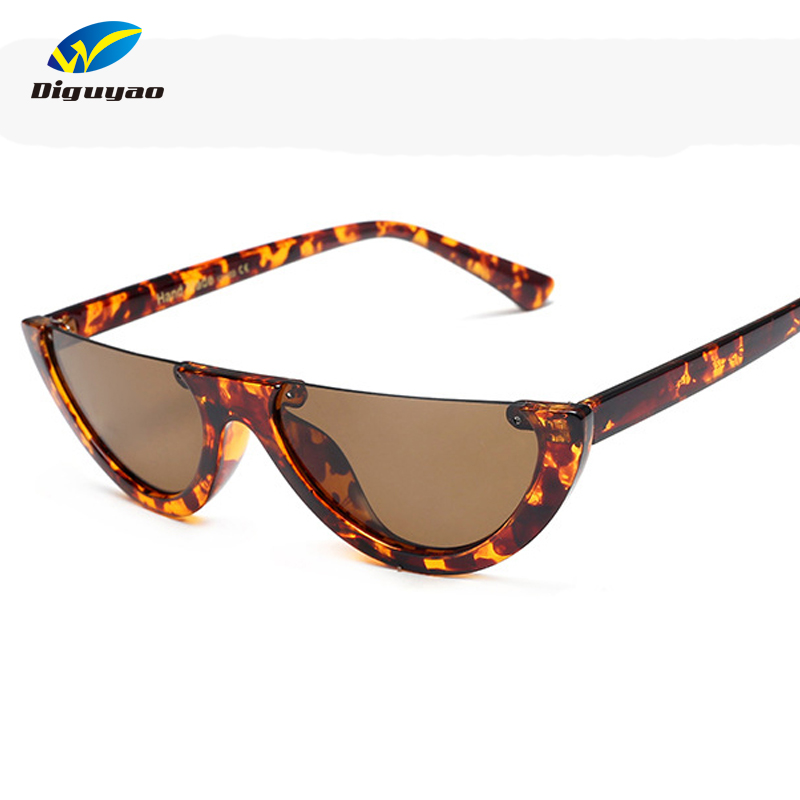 eee91d7d55 Best buy Trendy Half Frame Cat Eye Sunglasses Women 2017 Fashion Clear Brand  Designer Sun glasses For Female Oculos de sol online cheap