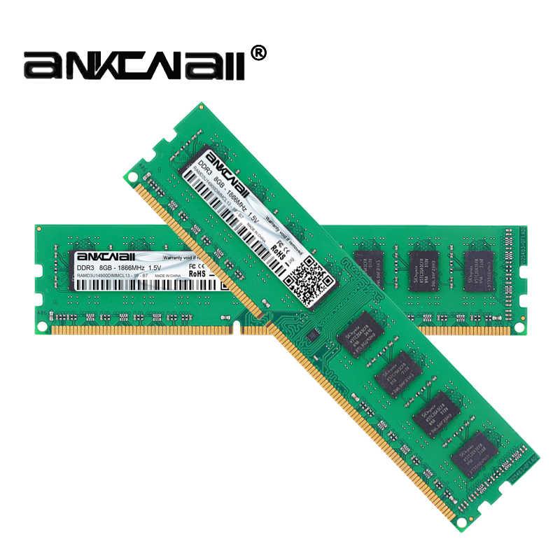 ANKOWALL DDR3 8 GB 4 GB ذاكرة 1600 Mhz 1333 MHz 240pin 1.5 V ذاكرة وصول عشوائي مكتبية dimm