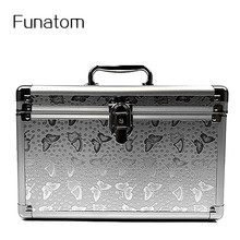 Fashion Aluminum Storage Box Beauty Case For Cosmetics, Large capacity Cosmetic Bag For Make Up,Girl's Gift Jewelry Storage Box цена и фото