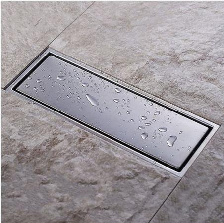 Anti-odor 300x110mm  Square  Invisible Bathroom Floor Drain Waste Grate Shower Drainer  anti odor bathtub shower drainer floor strainer 10x10cm 304 stainless steel square invisible bathroom floor drain waste grate