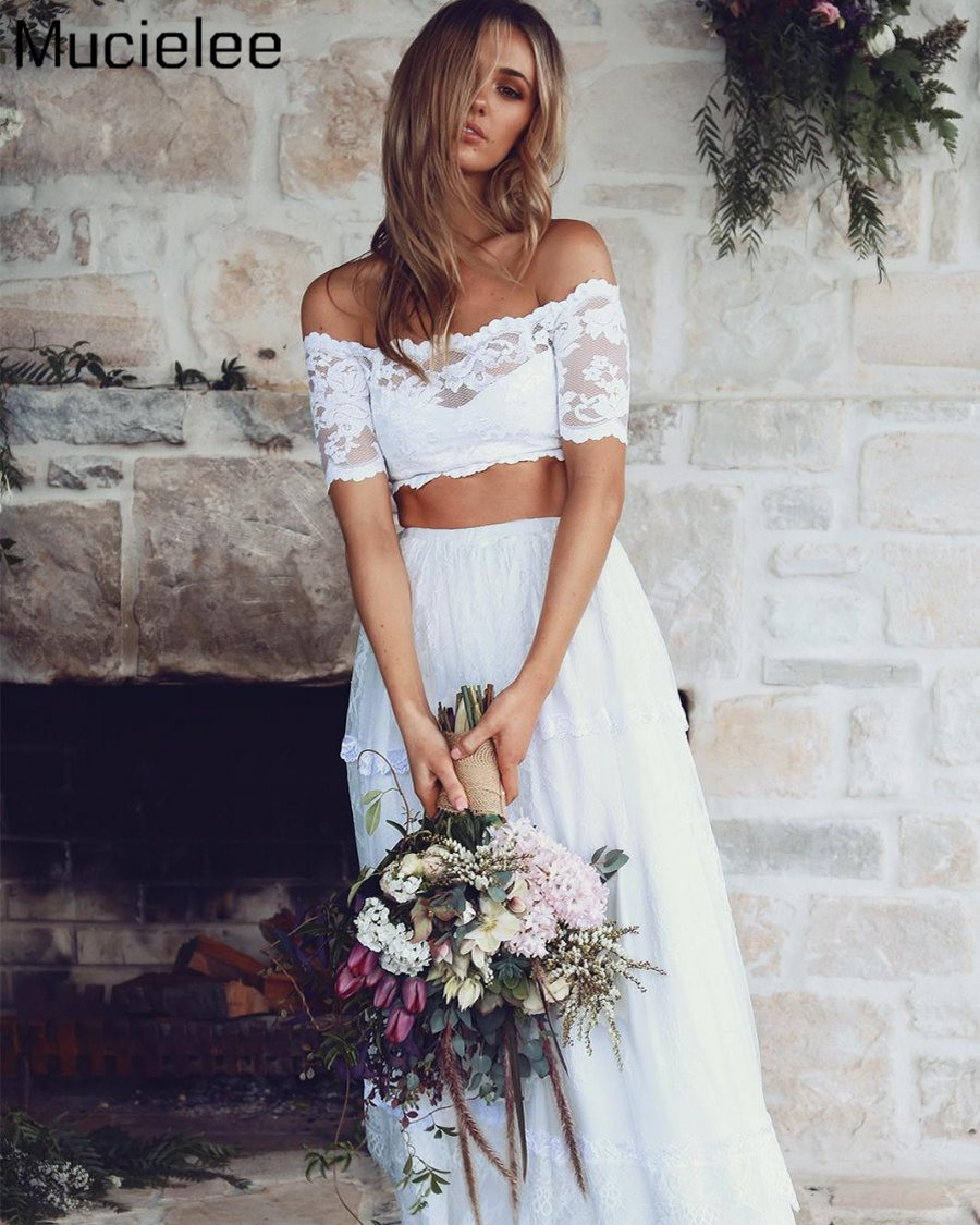 Online get cheap bohemian chic wedding for Cheap boho wedding dresses