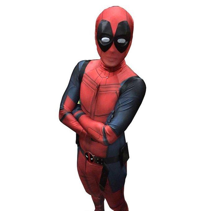 Deadpool Cosplay Costume Full Body Zentai Suit