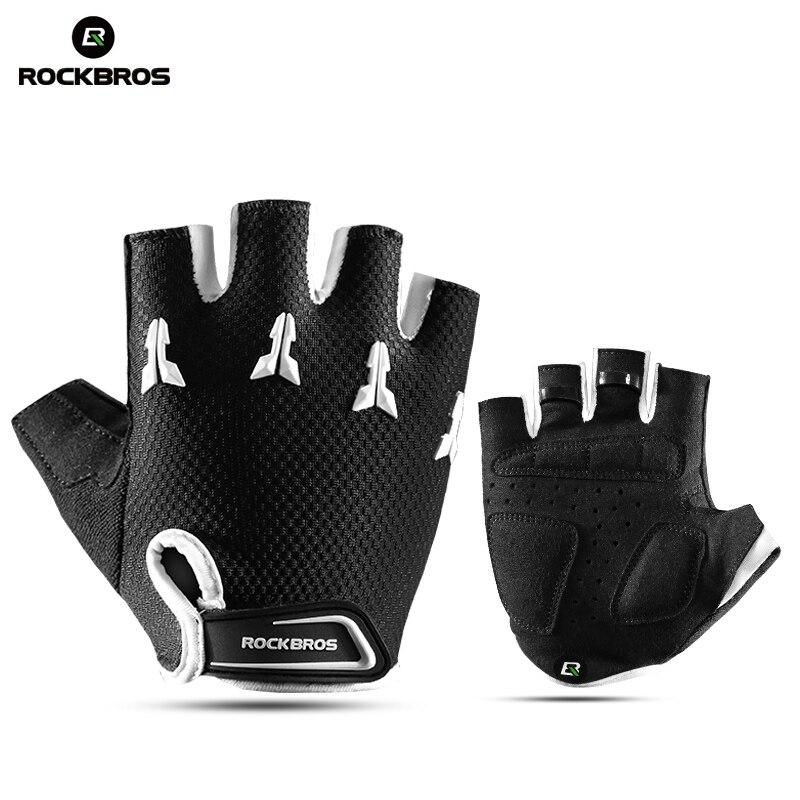 ROCKBROS Half Finger Children Sports Gloves Kids Anti-stock Gel Pad Bicycle Bike Child Gloves Pulley Balance Car Boy Girl Gloves