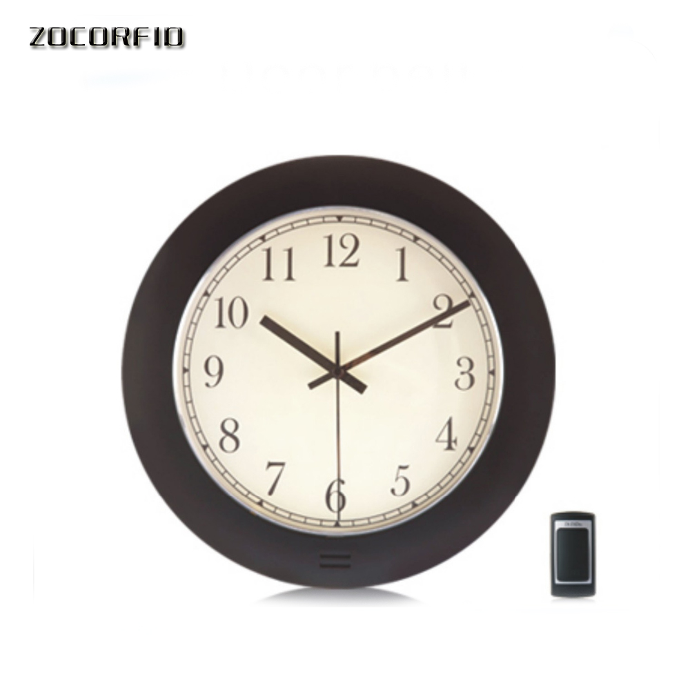 Creative Design  Flash Light And Melody Music Wireless Door Bell Doorbell With Clock Style / Home Alarm Ring Bell