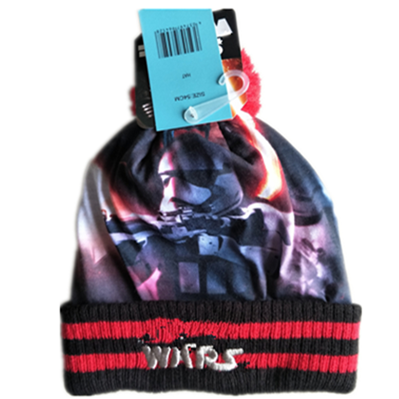 2bd760eb1ed New 3D print galaxy Wars Hero Darth Vader Stormtrooper Yoda Knitted Caps  Mask Beanies Winter Warm